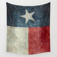 2001 Wall Tapestries featuring Texas state flag, Vertical retro vintage version  by LonestarDesigns2020 is Modern Home Decor