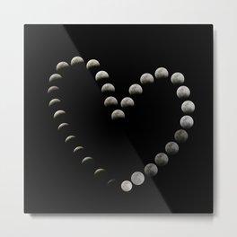 Moon Heart Total Lunar Eclipse Metal Print