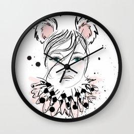 Lady Circus Wall Clock