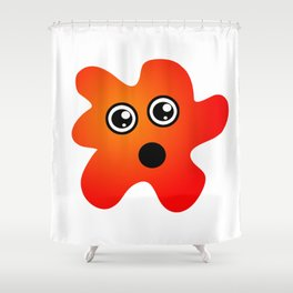 Surprised Spot Shower Curtain