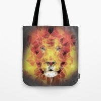 the lion king Tote Bags featuring lion king by Ancello