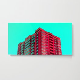 The Red Building Metal Print