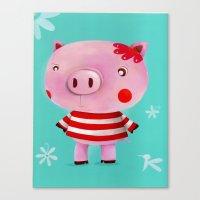 piglet Canvas Prints featuring Piglet by Gabriela Granados