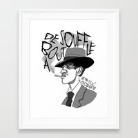 godard Framed Art Prints featuring À bout de souffle (Breathless) by Laura Hines