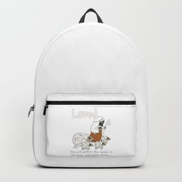 Christian Design - Loved Sheep with the Good Shepherd Backpack