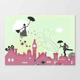 Mary Poppins-London Canvas Print