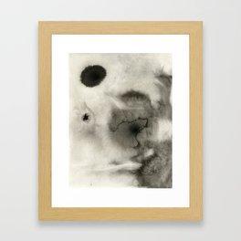 Abstract Black Ink Framed Art Print