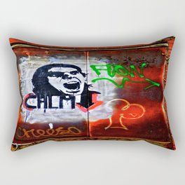 Back Alley Street Art Rectangular Pillow