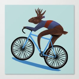 'Tis the season to be cycling Canvas Print
