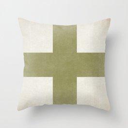 Orange Cross Throw Pillow