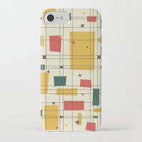 mid century modern iPhone & iPod Cases featuring Mid-Century Modern by Studio Fibonacci