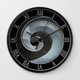 Spiral modern stairs Wall Clock