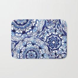 Delft Blue Mandalas Bath Mat