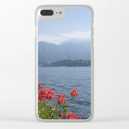 Panoramic view of Lake Como, Italy. Clear iPhone Case