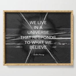 We Live In A Universe Quote - Society6 - Art - Luxury - Comforter - Bedding - Throw Pillows - Laptop Serving Tray