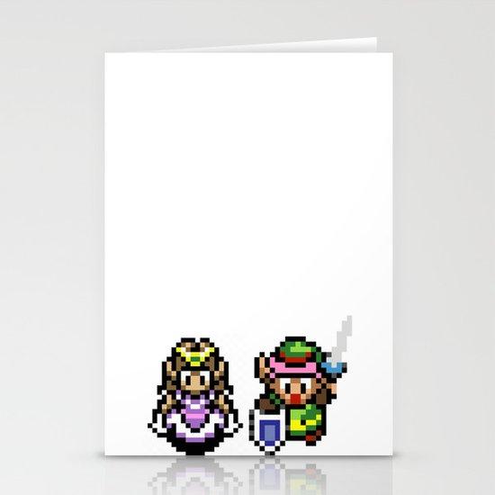 Zelda and Link Stationery Cards