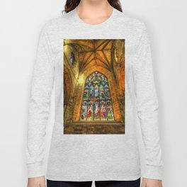 Cathedral Stained Glass Window Long Sleeve T-shirt