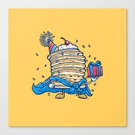 Captain Birthday Pancake Canvas Print