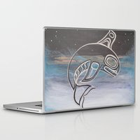 killer whale Laptop & iPad Skins featuring Killer Whale  by JessaDee`Designs