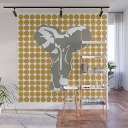 Sudan Brown Safari Dot with Pop Art Elephant Wall Mural