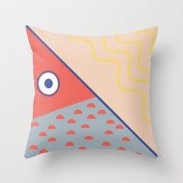 Never ending fish 3 part 1 Throw Pillow