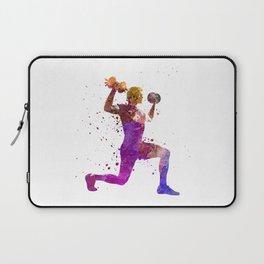 Man exercising weight training workout fitness Laptop Sleeve