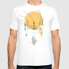 Beach House - Norway White Mens Fitted Tee SMALL
