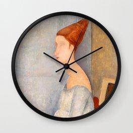 "Amedeo Modigliani ""Portrait of Jeanne Hébuterne"" Wall Clock"