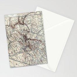 Vintage Map of Arizona (1911)  Stationery Cards