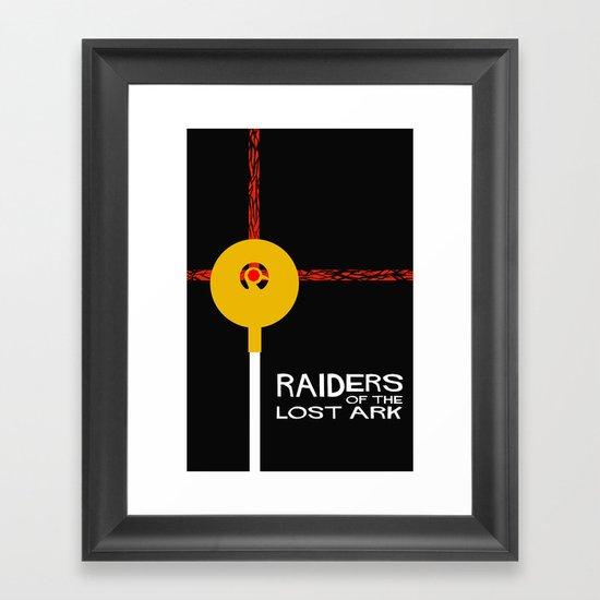 Raiders of the Lost Ark Minimal Movie Poster Framed Art Print