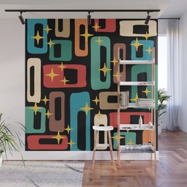 Retro Mid Century Modern Abstract Pattern 223 Wall Mural