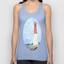 Watercolor Collage Lighthouse Unisex Tank Top