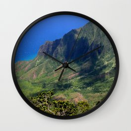 View From the Angels: Kalalau Valley, Kauai, Hawaii Wall Clock