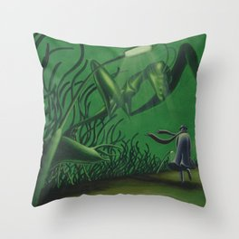 POEM OF INSECTS Throw Pillow
