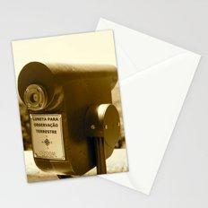 Spyglass to land observation Stationery Cards