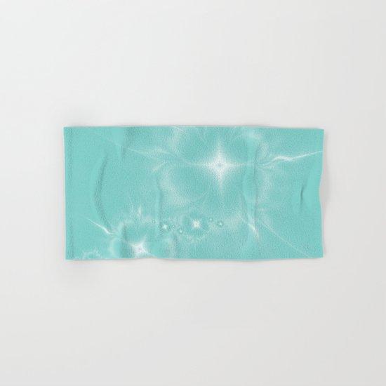 Fleur de Nuit in Aqua Tone Hand & Bath Towel