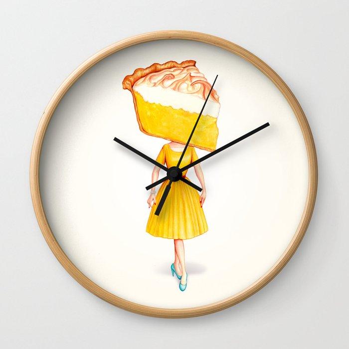 Cake Head Pin-Up - Lemon Wall Clock