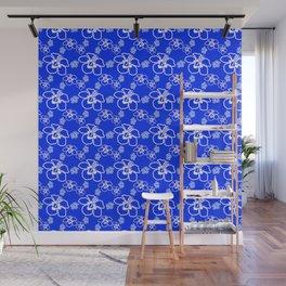 Blue Hibiscus Hawaiian Wall Mural