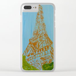La Tour Eiffel in the Spring Clear iPhone Case