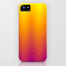 Pink and Yellow Ombre - Waves iPhone Case