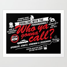 Better Call The Boys in Gray Art Print