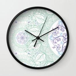 Mandaleaf - Green Wall Clock