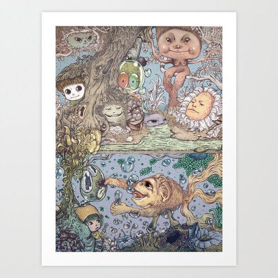 Mind Friend of Imaginations 2 Art Print