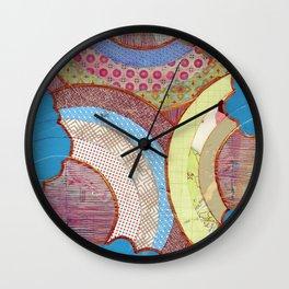 triple rainbow Wall Clock