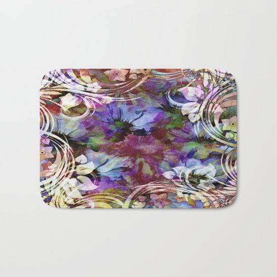 Fancy Midnight Floral Bath Mat