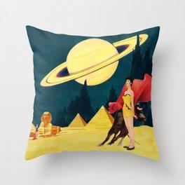 Yellow Summit Throw Pillow