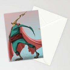 PinkSuperHero Stationery Cards