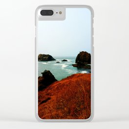 Red Thunder Rock Cove Clear iPhone Case