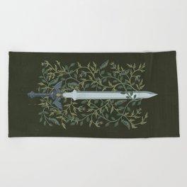 Sword of Time Beach Towel