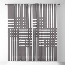 Black and white design Sheer Curtain